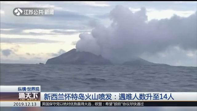 新西兰怀特岛火山喷发:遇难人数升至14人