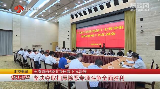 王春峰在徐州市开展下沉督导 坚决夺取扫黑除恶专项斗争全面胜利