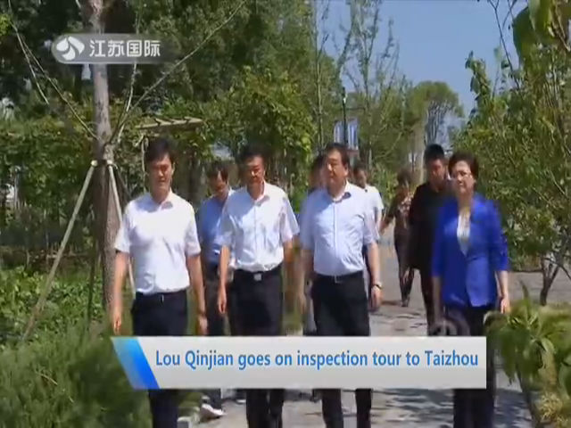 Lou Qinjiang goes on inspection tour to Taizhou